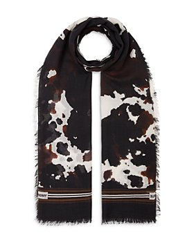 Burberry - Camouflage Print Silk & Wool Scarf