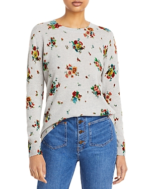 Floral Print Cashmere Sweater