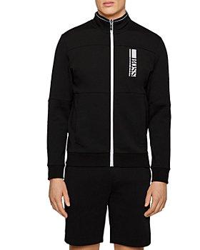 BOSS - Skaz 1 Logo Print Regular Fit Full Zip Sweatshirt