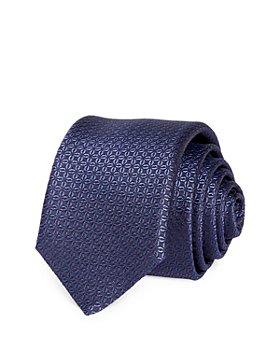 BOSS - Tonal Floret Water Repellent Silk Skinny Tie