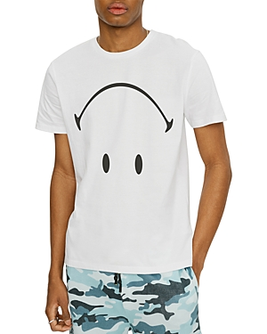Eleven Paris Inverted Smiley Face Graphic Tee