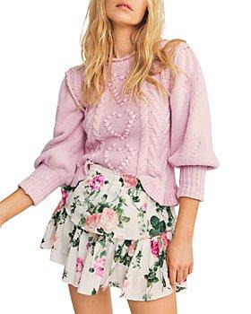 LoveShackFancy - Ruffled Printed Mini Skirt