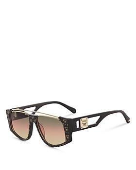 MCM - Unisex Metal Brow Bar Aviator Sunglasses, 55mm