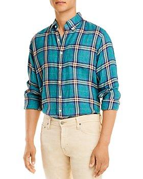 Sid Mashburn - Plaid Slim Fit Linen Button Down Shirt