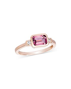 Bloomingdale's - Pink Tourmaline & Diamond Ring in 14K Rose Gold - 100% Exclusive