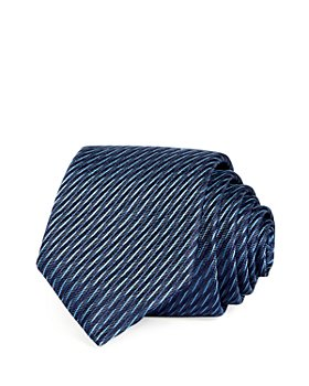 HUGO - Textured Stripe Silk Skinny Tie