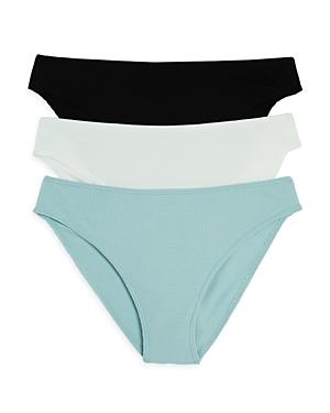 Linds Ribbed High-Cut Bikinis