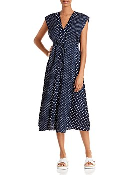 Theory - Micro Link Silk Georgette Overlay Dress