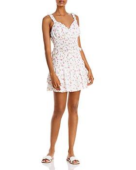 AQUA - Ditsy Floral Smocked Crop Top & Mini Skirt - 100% Exclusives