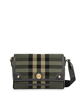 Burberry - Check Jacquard & Leather Note Crossbody