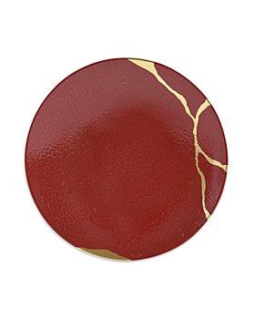 Bernardaud - Kintsugi Rouge Empereur Coupe Salad Plate