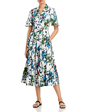 Printed Cotton Day Dress