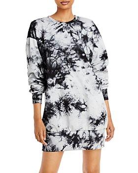 AQUA - Tie Dye Long Sleeve Dress