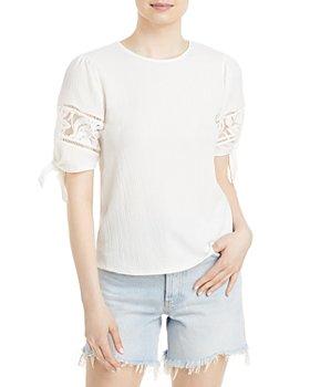 Cupio - Tie Puff Sleeve Top