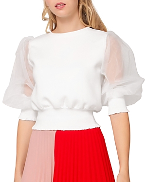 Organza Puff Sleeve Top (31% off) Comparable value $72