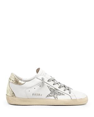 Golden Goose Deluxe Brand Women's Super-Star Glitter Low Top Sneakers