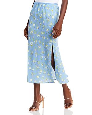 French Connection Shanti Verona Midi Skirt In Multi