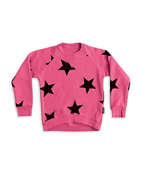 NUNUNU - Girls' Star Sweatshirt - Little Kid, Big Kid