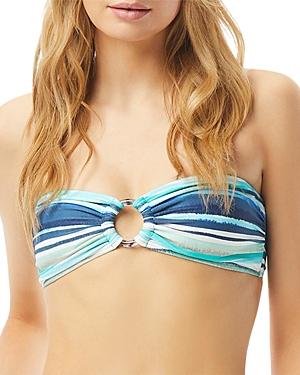 Striped Ring Bandeau Bikini Top