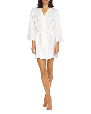 Victoria Charmeuse Wrap Robe