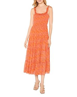 Mckay Paisley Print Midi Dress