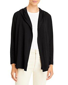 Eileen Fisher - Open Front Hooded Jacket