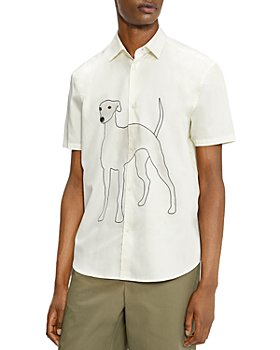 Ted Baker - Made in Britain Botchey Revere Greyhound Relaxed Fit Shirt