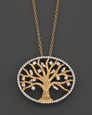Diamond Pendant Set In 14K Yellow Gold, 0.40 ct. - 100% Exclusive