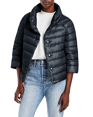 Herno Iconico Cropped Down Puffer Coat