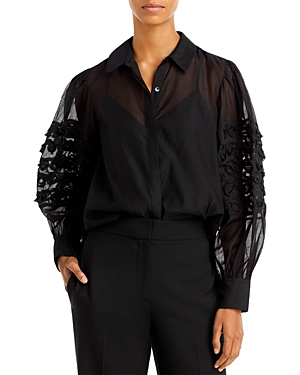 Rebecca Taylor Embroidered Blouse