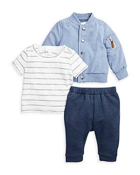 Miniclasix - Boys' Bomber Jacket, Top & Pants Set - Baby