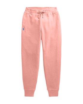 Ralph Lauren - Girls' Solid Fleece Jogger Pants - Little Kid, Big Kid