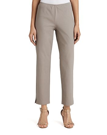 Eileen Fisher - Organic Stretch Cotton Twill Slim Ankle Pants