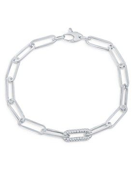 Bloomingdale's - Diamond Paperclip Bracelet in 14K White Gold, 0.60 ct. t.w. - 100% Exclusive