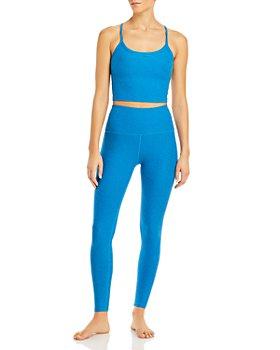 Beyond Yoga - Space-Dye Racerback Cropped Top & High Waist Midi Leggings