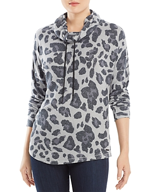Printed Cowl Neck Sweatshirt