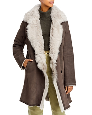 HiSO August Toscana Trimmed Reversible Shearling Coat