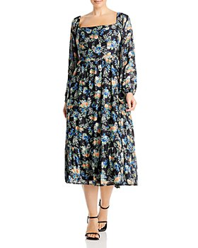 WAYF - Plus Floral Print Midi Dress