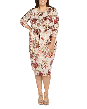 Floral Tie Front Sheath Dress