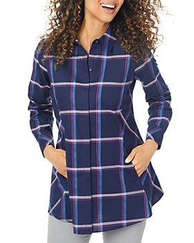 Foxcroft - Cici Weekend Plaid Tunic Shirt