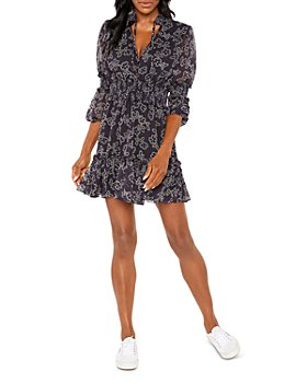 LIKELY - Floral Smocked Mini Dress