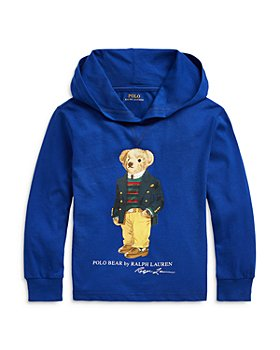 Ralph Lauren - Boys' Polo Bear Jersey Hoodie - Little Kid