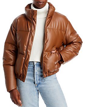 AQUA - Faux Leather Puffer Jacket - 100% Exclusive