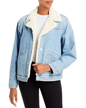 MOTHER - The Off The Grid Sherpa Denim Bomber Jacket