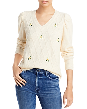 Cliche Floral Embroidered Sweater (62% off)