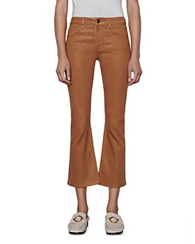 FRAME - Le Crop Mini Coated Bootcut Jeans in Vicuna