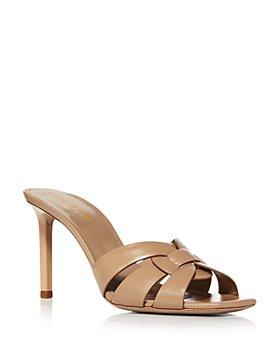 Saint Laurent - Women's Tribute Square Toe High Heel Sandals