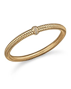 Roberto Coin 18K Yellow Gold Primavera Stretch Bracelet with Diamonds - Bloomingdale's_0