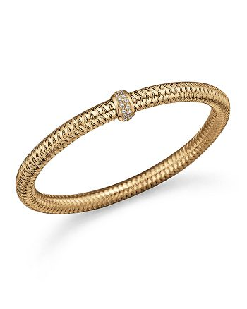 Roberto Coin - 18K Yellow Gold Primavera Stretch Bracelet with Diamonds