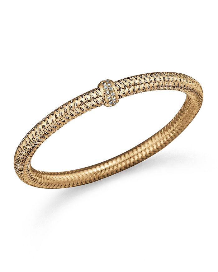 Roberto Coin - 18K Yellow Gold Primavera Stretch Bracelet with Diamonds
